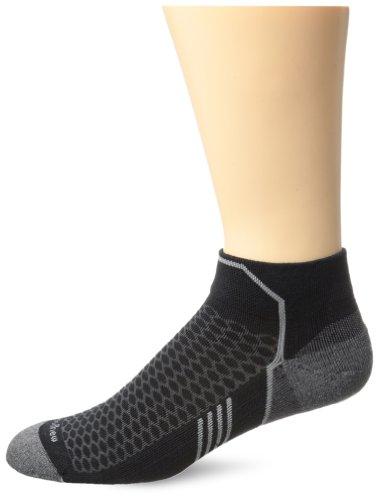 Sockwell Mens Incline Inspire Athletic Lo Quarter Socks  Black  Large X Large