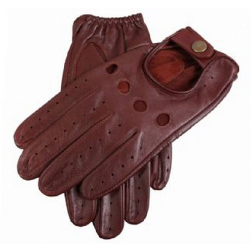 Dents Mens Delta Leather Driving Gloves - English Tan - Medium