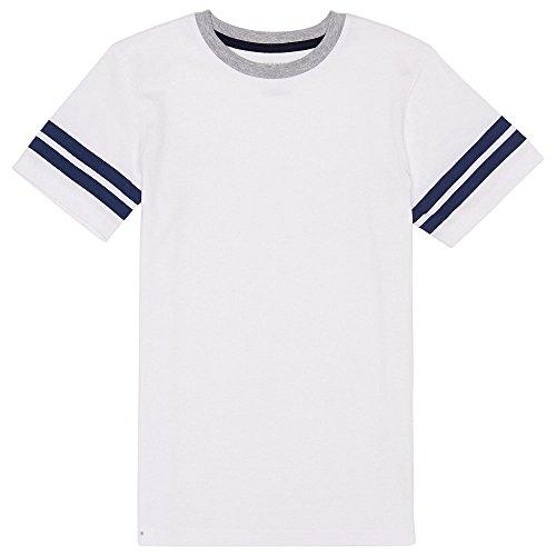 French Toast Boys'  Short Sleeve Ringer Tee, white, 6,Little Boys