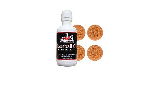 Game Room Guys Foosball Oil and 4 Natural Cork Foosballs