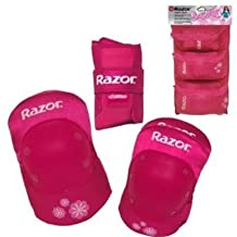 Pink Youth Knee Elbow Protective Pads Wrist Guards Sports Age 8 New by Razor