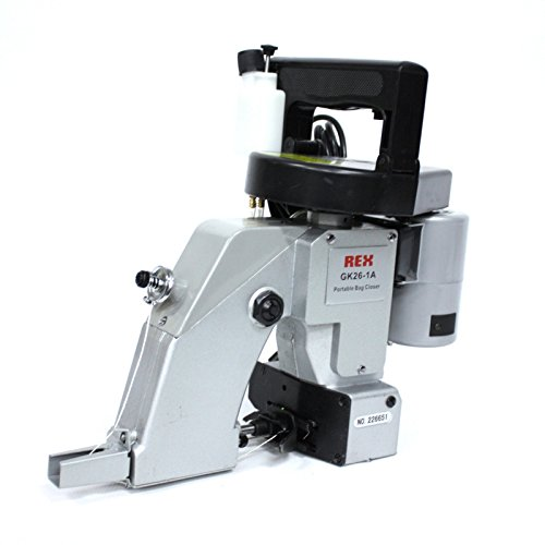 Rex RX26-1A Handheld Portable Bag Closer, Chainstitch Bag Closing Sewing Machine