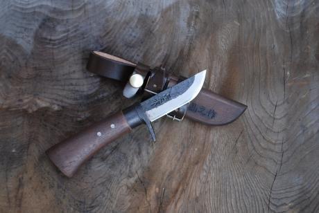 土佐鍛 渓流75土佐オリジナル白鋼木鞘オイルステン k1804-0001   B07BZ2NW5R