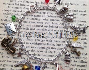 Train Your Dragon Books - 6pcs/lot HP Inspired Charm Bracelet Envelope Star Train Book Dragon Charm braclet. by SARIN EASH