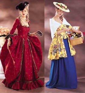 Butterick Making History Pattern 3640 ~ 1700s Gown and Shepherdess Dress Costumes ~ 6-8-10 (Shepherdess Costume)