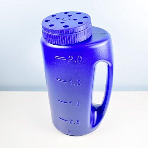 Shark Reusable and Adjustable Handheld Spreader Shaker for Seeds, Salt, Fertilizer, Diatomaceous Earth, Deicing, Ice Melt, Granule