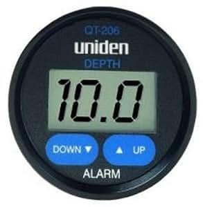 Uniden QT-206W Digital Depth Finder In-Hull Adjustable Transducer, Black