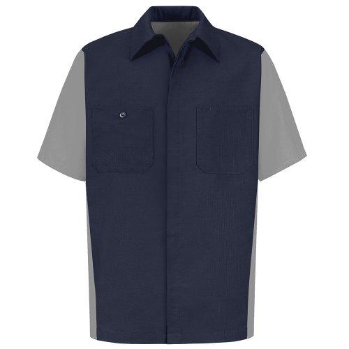 Red Kap Men's Rip-stop Short-sleeve Crew Shirt