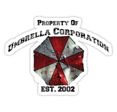 2x Umbrella Corporation Logo Dirty Sticker Decal Aufkleber 15cm Digital Print Resident Evil Windscreen Movie JDM DUB Auto Car Racing Notebook Laptop (Resident Evil Stickers)