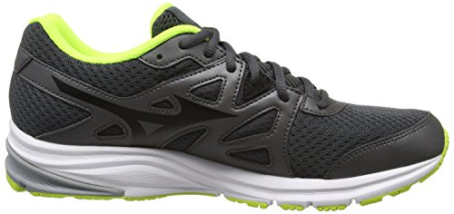 Mizuno J1GE161814, Zapatillas de Running Hombre Gris (Dark Shadow/Black/Safety Yellow)