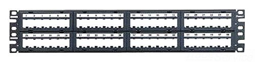 Panduit CPPL48M6BLY 48-Port Flat Patch Panel, Black