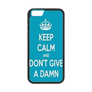 iPhone 6 Case, Keep Calm Don't Give A Damn TPU Frame & PC Hard Back Protective Cover Bumper Case for Iphone 6 (4.7) (2014)