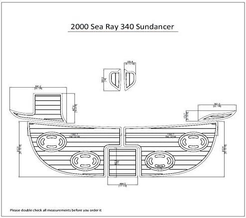 "2003 Sea Ray 260 Sundancer  Swim Platform Pads 1//4/"" 6mm EVA  Teak Decking"