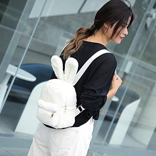 Ears White Girl Backpack WILLTOO Bags Women Travel Bag Bags School Fashion Tote Shoulder Plush wqqT7CO