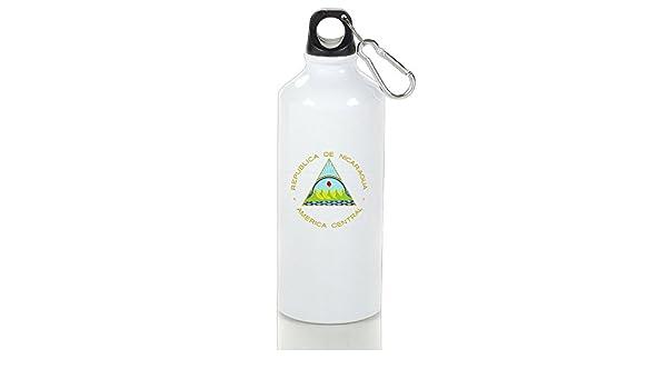 huopr5q escudo de armas de Nicaragua moderno impreso botella de agua accesorios de viaje botella de deporte botella trabajo de oficina Café Té botella para niños adultos: Amazon.es: Hogar