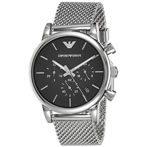 chollos oferta descuentos barato Emporio Armani Reloj Cronógrafo para Hombre de Cuarzo con Correa en Acero Inoxidable AR1811