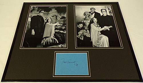 Signed Photo Herman - Fred Gwynne Signed Framed 16x20 Photo Set Herman Munster
