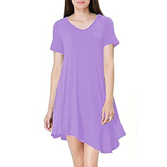 Fall T-Shirt Dress For Women Elegant Short Sleeves Tunic T-Shirt Dress Top