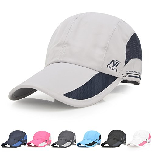 Sport Cap Summer Quick Drying Sun Hat UV Protection Outdoor Cap for Men, Women Gray/Black - http://coolthings.us