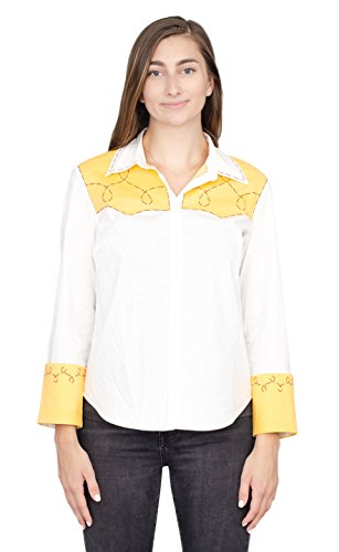 Toy Story Jessie Cowgirl Costume Shirt (Adult Medium) White -