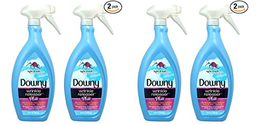 Downy Wrinkle Release Spray Plus, Static Remover, Odor Eliminator, Fabric Refresher and Ironing Aid, Light Fresh Scent, 33.8 Fluid Ounce (Pack of 2) (2 PACKS OF 2)