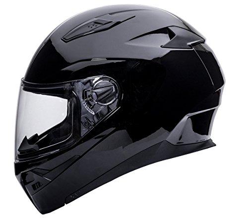 - Kali Apex Solid Gloss Black Full Face Motorcycle Helmet S M L XL 2XL (M)