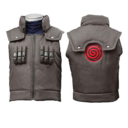 OURCOSPLAY Adult and Child US Size Kakashi Hatake Vest Cosplay Costume (Child L(XXS))]()