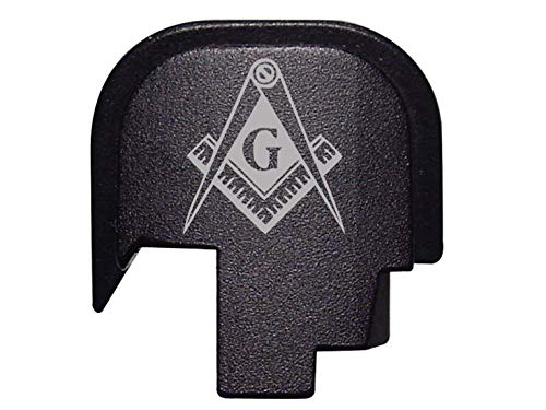 NDZ Performance for S&W Shield Rear Back Plate 9mm .40 Black Masonic Mason Calipers G Logo