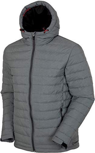 Sunice Rory サーマル3 Mフェザーレス絶縁フード付きジャケット チャコールメランジ MED