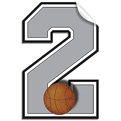 amazon com wall number 1 basketball jersey numbers varsity