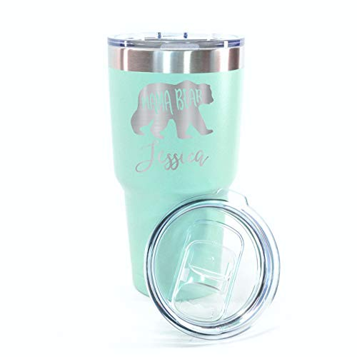Insulated Thermal Mama Bear Travel Mug Made From Stainless Steel. 7 Colors Available