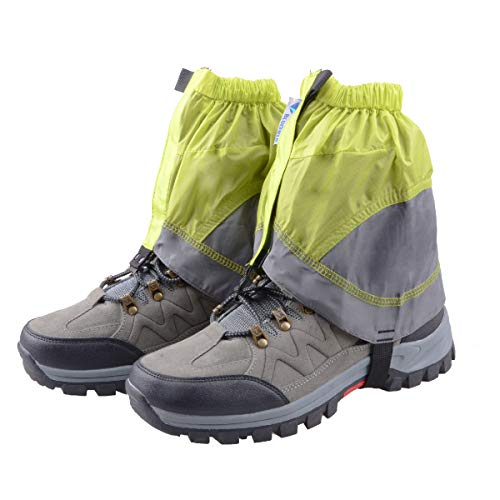 TRIWONDER Gaiters Low Gators Lightweight Waterproof Ankle Gaiters for Hiking Walking Backpacking (Green & Gray)