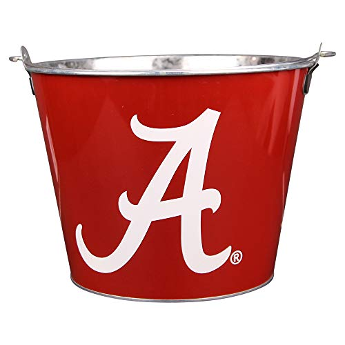 Alabama Crimson Tide Ice - Collegiate Full Color Beer Buckets (Holds 5+ Beers and Ice) - Alabama Crimson Tide