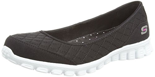 SkechersEz Flex Spruced Up - Zapatillas de ballet mujer Negro (black/white)
