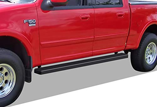 - APS iBoard Running Boards (Nerf Bars | Side Steps | Step Bars) for 2001-2003 Ford F150 SuperCrew Cab (Incl. 04 Heritage) | (Black Powder Coated 5 inches)
