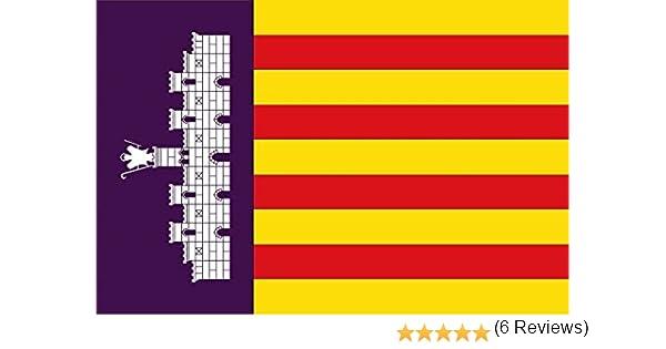 Gran Bandera de Mallorca 150 x 90 cm Durobol Flag: Amazon.es: Deportes y aire libre