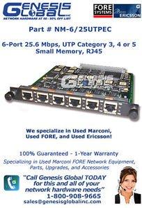 - NM-6/25UTPEC - MARCONI NM-6/25UTPEC 6 port UTP ATM 25 Mbps network module