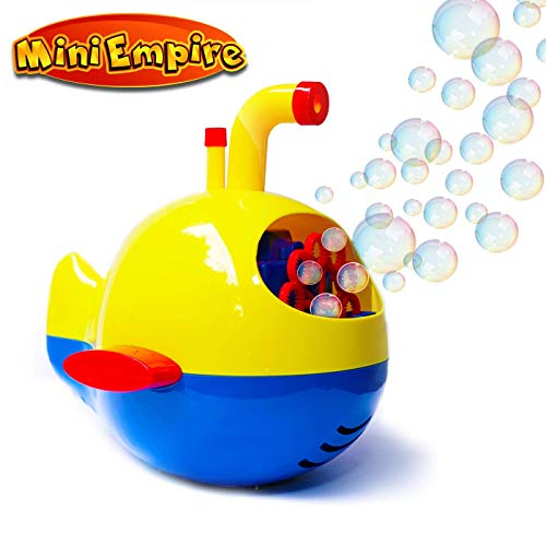 Bubble Machine for Kids Toddlers - Automatic Bubbles Blower with Bubble Solution for Kids indoor outdoor toys, bubble blowing machine for party, blitz bubble maker blowout for wedding, water play games, bubble toys for toddlers, perfect gifts for children age 2 years and above.