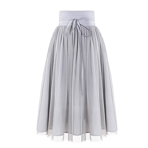 YUNSHANG Bowknot Tulle Layered Pleated product image