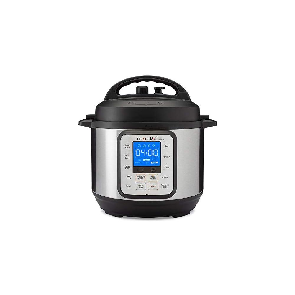 Instant Pot Duo Nova 7-in-1 Electric Pressure Cooker, Slow Cooker, Rice Cooker, Steamer, Saute, Yogurt Maker, 3 Quart…