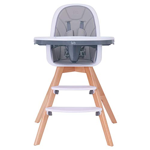 Baby High Chair with Double Removable Tray for Baby/Infants/Toddlers