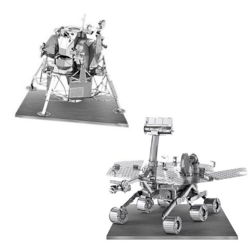 Metal Earth 3D Laser Models Spacecraft Set of 2 - Mars Rover