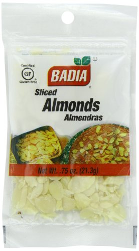 Badia Almonds Sliced, 0.75-Ounce (Pack of 12)
