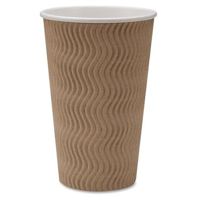 Price comparison product image Genuine Joe GJO11257PK Insulated Ripple Hot Cup, 16-Ounce Capacity (Pack of 25)