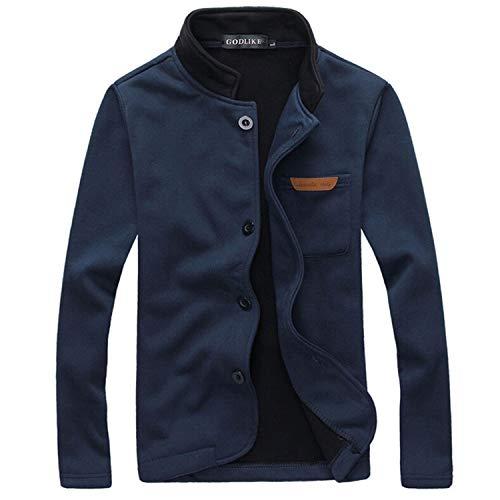 (Huntty Men Jacket Spring & Autumn Pocket Decorated Casual Jackets Outdoors Men Coat Clothing,X-Large,NavyBlue)