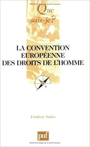 En ligne téléchargement La Convention européenne des droits de l'Homme pdf