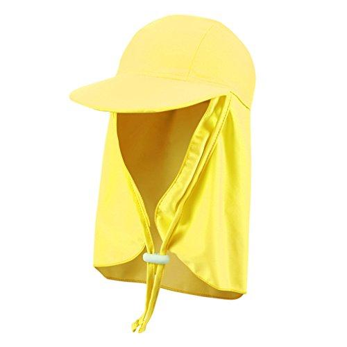 Gogokids Kids Sun Hat Flap Cap Boys Girls Visor Cap Sun Protection Beach Hat Fishing Cap by Gogokids