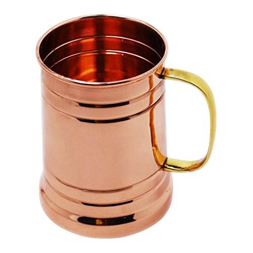 STREET CRAFT 100% Authentic Copper Large Tanker with Brass Handle / Moscow Mule Mug /Copper Moscow Mule Mugs / Cups.Capacity 20 oz . (Drinking Glasses Pictures)