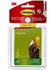 Command Poster Strips, Decorate Damage-Free, Indoor, 48 strips, Multi-Pack