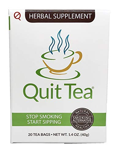 Quit Tea Herbal Stop Smoking Tea, 20 Tea Bags (1 Week Supply)